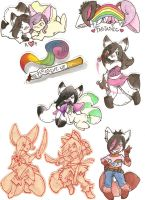 sticky stickers. by hisakata-kitsune