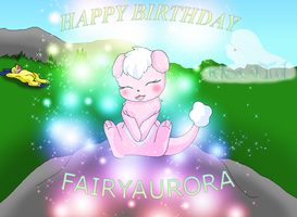 Happy Birthday FairyAurora Cutemon cuteness by HeroHeart001