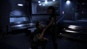 Mass Effect 3 - Kaidan Proposes to Shepard by lealea25