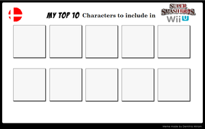 Top 10 Characters to include in SSB Wii U by Badboylol