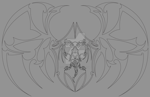 WIP Matriarchs Sigil with double headed dragon by Valanyonnen