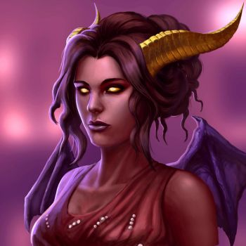 ...Commission: Tiefling... by ShadowPriest
