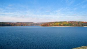 Reservoir near Catskills, NY by jeffrade