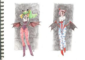 Morrigan nd lilith by dustrain