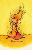 flame princess doodle by boozits
