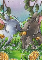 ACEO #086 - Dandelion by Muukster