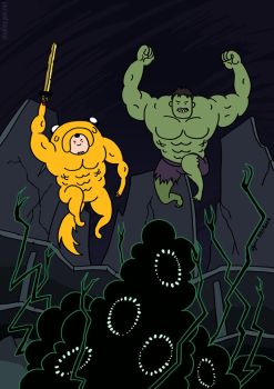 Adventure Time Hulk by cyen