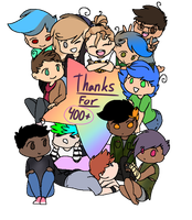 THANKS FOR 400+!!! by DaShipNoodle