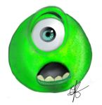 Monster's Inc - Mike Face by Never2Wonderland