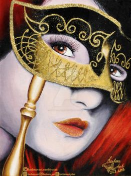 Golden mask by barbara-art