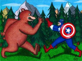 The Grizzly Bear and the Super Soldier by WalterRingtail