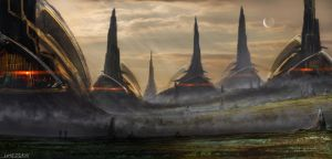 Environments - Landscapes - Sci-Fi2 by DBdantalion