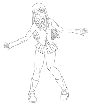 Illya lineart by sykes-one