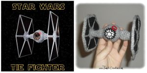 Star Wars Tie fighter Crochet by Tiamat-Creations