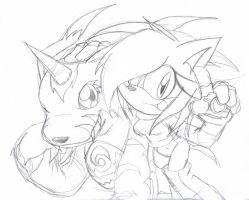 conprize: Grace n Gabumon by Crystalhedgie