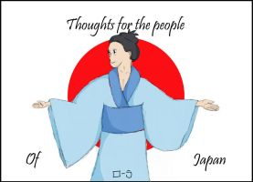 Thought for Japan by Lollybob