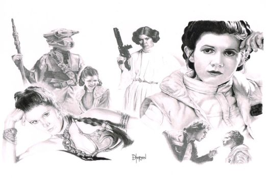 Leia (newly scanned) by Quadcabbage