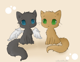 Destiel kitties by SkittleKitty123