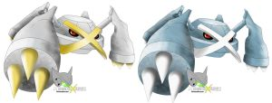 Metagross + Shiny version by MegamanXstream