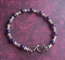 Amethyst and Pewter Bracelet by BastsBoutique