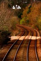 Rail Tracks into Dundee by IconicJohn