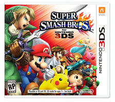 Super Smash Bros. for 3DS box art by Rosalina-Luma