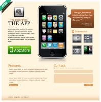 iPhone App Web template by iconnice