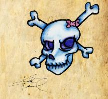 Another Girlie Skull by AcidUnicorn