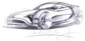 Toyota Sportscar sketch by dyrborgdesign