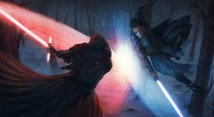 Starwars battle (Commission) by cha4os
