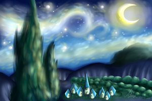Starry night by CooI