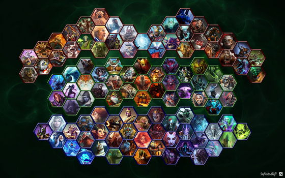 Dota 2 All Heroes Wallpaper by Shifty44
