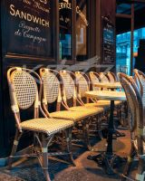 Empty Cafe chairs by brish08