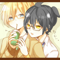 Kagene Rei and Kagamine Len - Soda Time! by KageneYoi