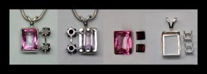 Pink Topaz and Garnet by manwithashadow