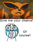 Kurama Wants Chakra by Lizardona
