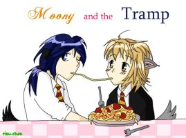 Moony and the Tramp by Risu-chan14
