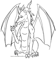 .:Free Dragon Lineart:. by Lurker89