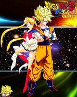 Goku SSJ And Sailor Moon by dbzandsm
