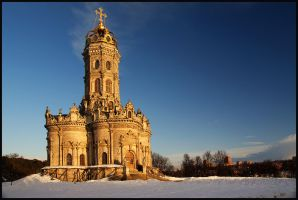 Old church. March evening. by Nickdan