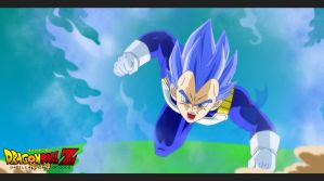 Vegeta Super Saiyan God by Elyas11