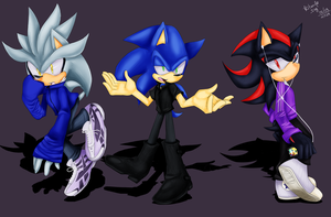 Silver Sonic Shadow by Kitsune-Jay