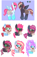 Shipping Foal Adopts 2 CLOSED by PuppyPress-Adopts