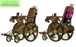 Steampunk Wheelchair PNG Stock by Roys-Art