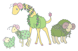 Shrubbery Pokemon by RaineyJ