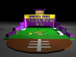 MN Vikings Trade Show Booth 3D by davilesdesigns
