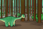 The Moody Diplodicus by I-Wish-I-Was-An-NPC