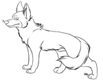 Lineart - Canine by SlaughterHound