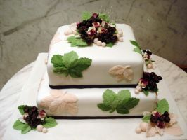 Leaves Wedding Cake by Sliceofcake