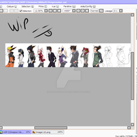 WIP COmission Nikky93 Progression  by Sarah927